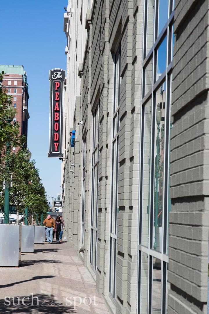 Peabody Hotel sign in Memphis