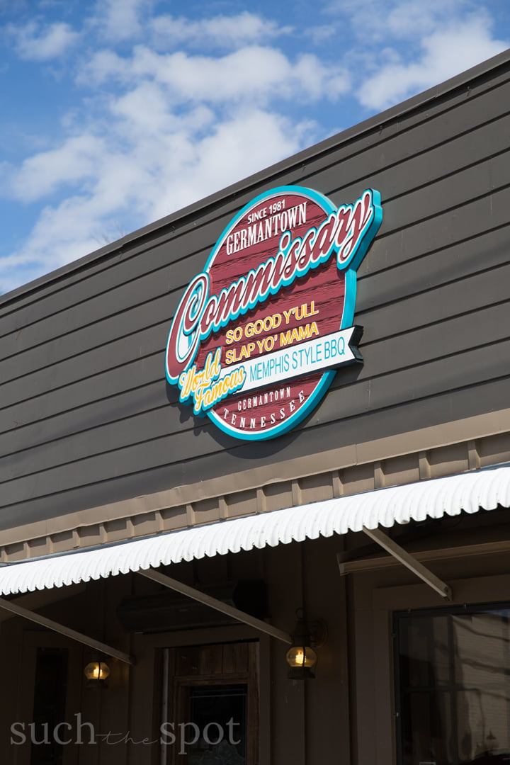 The Commissary exterior sign in Germantown Tennessee