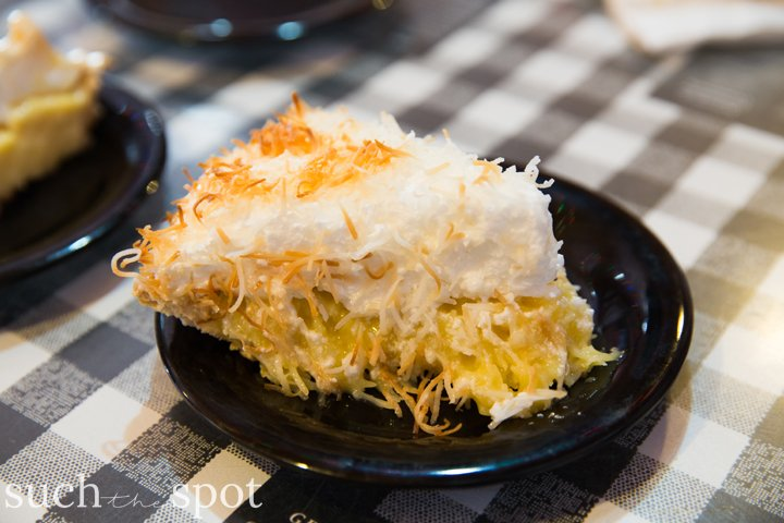 Slice of coconut cream pie