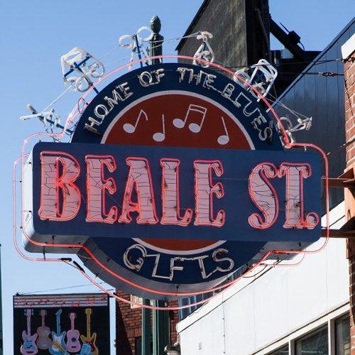 Beale Street neon sign Memphis