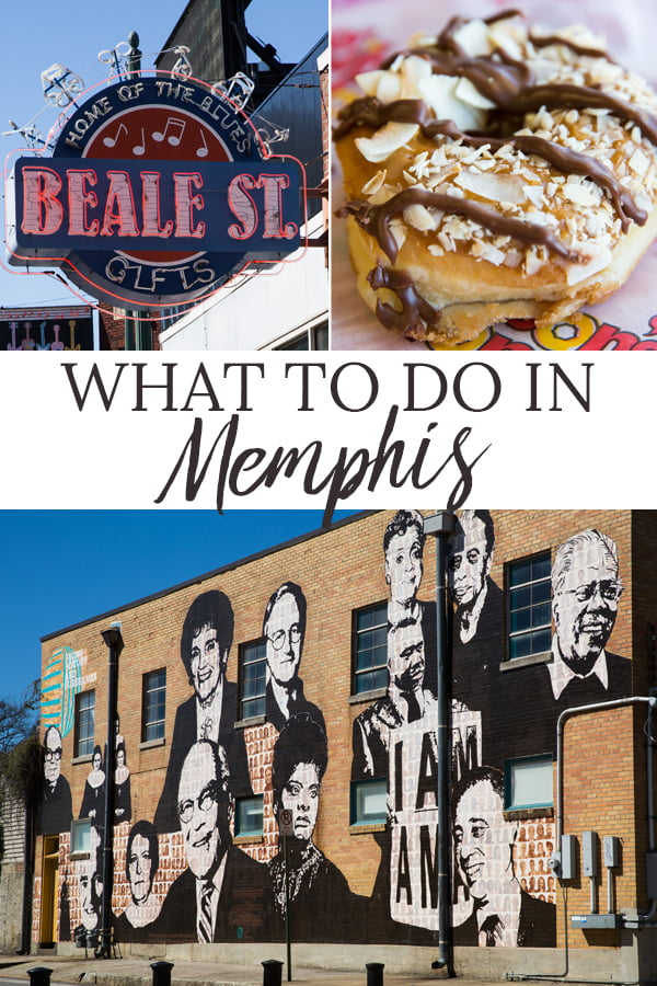Beale Street sign, Gibson's Samoa Donut and city street mural
