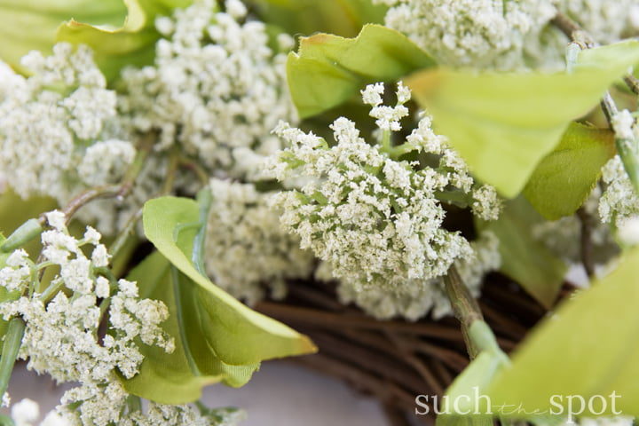 Faux petite white flowers similar to Baby's Breath