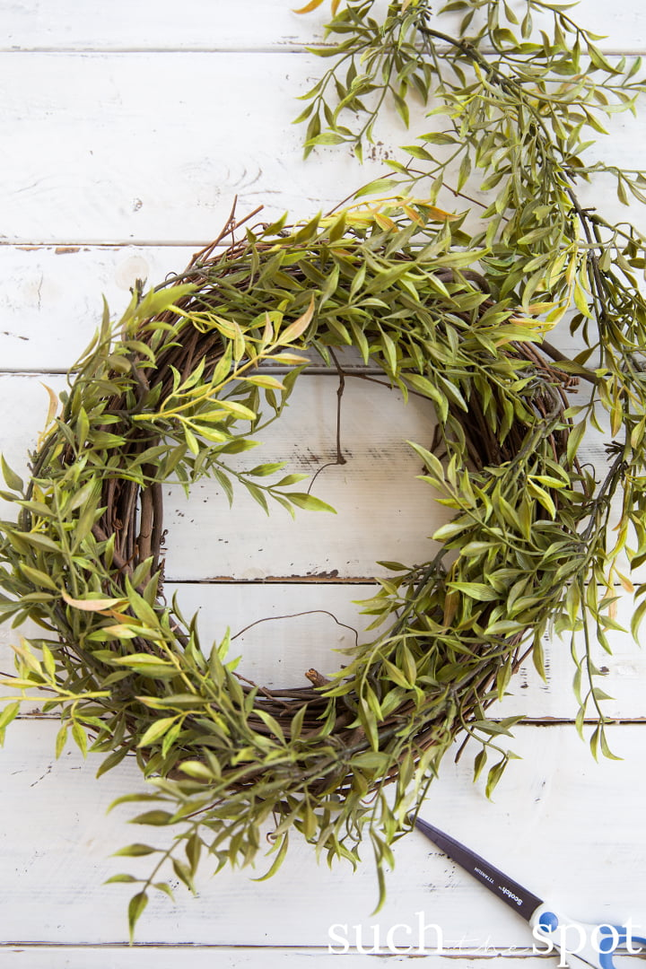 Faux wild greenery garland