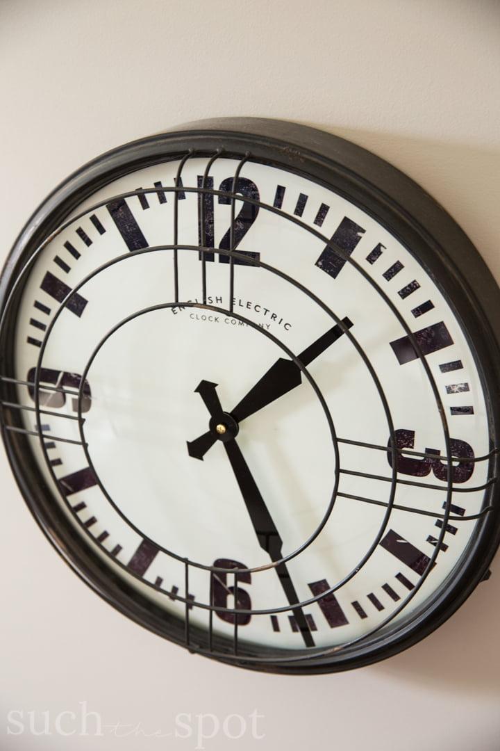 Locker Room wall clock