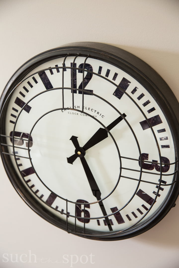 Locker Room wall clock