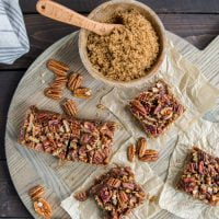 BEST CHEWY PECAN SHORTBREAD BARS
