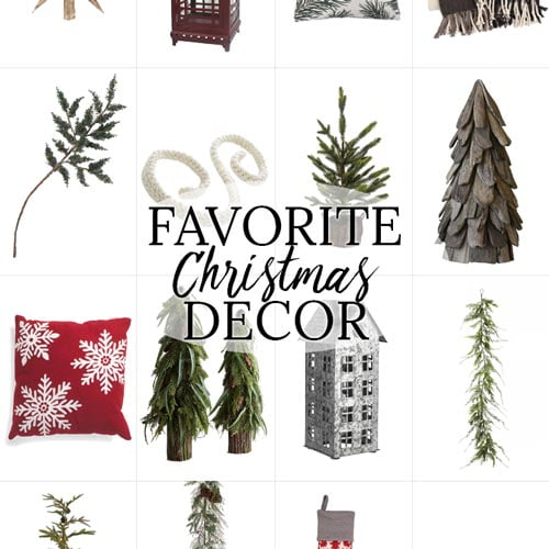 favorite christmas decor on a white background