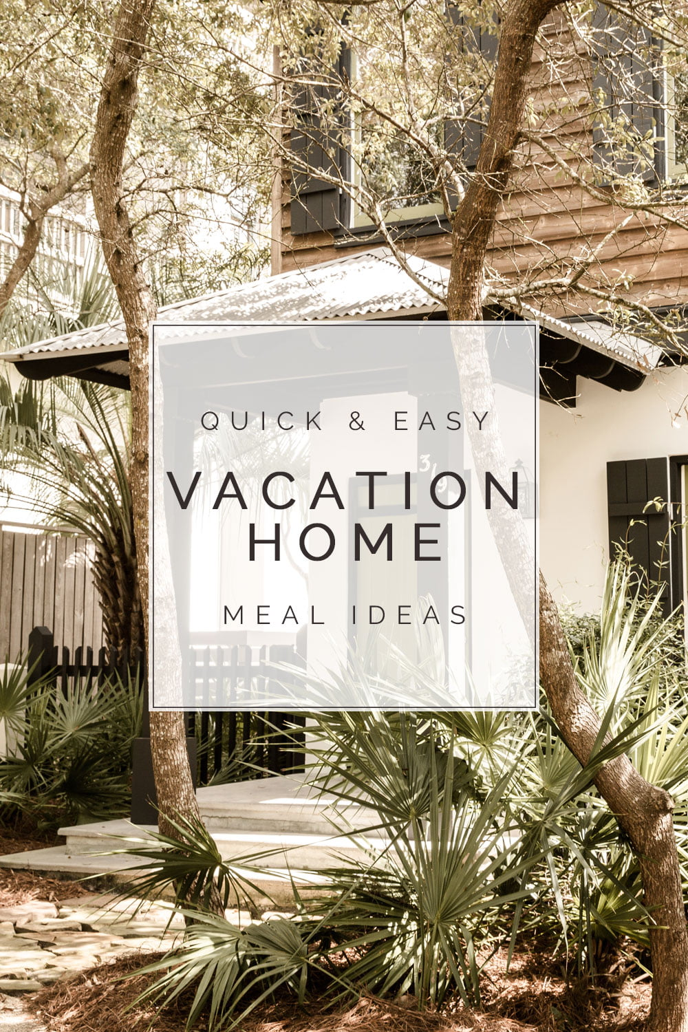 easy vacation rental meal ideas